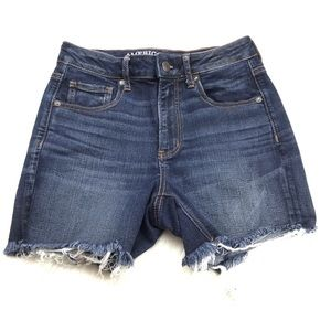 American Eagle Super Hi-Rise Shortie Denim Shorts